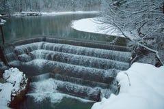 Lechfall in der Winterzeit Fussen deutschland Lizenzfreies Stockfoto