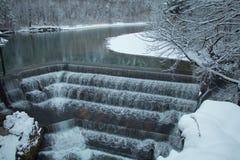 Lechfall nell'orario invernale Fussen germany Immagini Stock Libere da Diritti