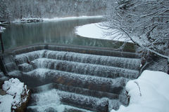 Lechfall in winter time. Fussen. Germany. Royalty Free Stock Images