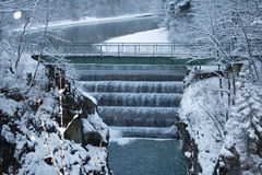 Lechfall in winter time. Fussen. Germany. Stock Photography