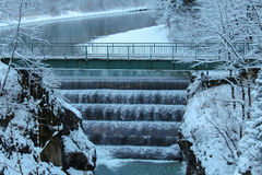 Lechfall in winter time. Fussen. Germany. Royalty Free Stock Image