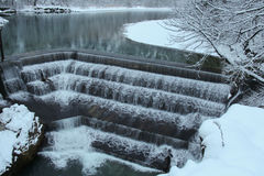 Lechfall in winter time. Fussen. Germany. Royalty Free Stock Photo
