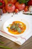 Lecho dämpfte Gemüsesalatpfeffertomate Lizenzfreie Stockfotografie