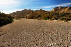 Lecho de un río seco Imagen de archivo