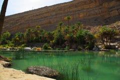 Lecho de un río seco Bani Khalid Omán Fotografía de archivo libre de regalías