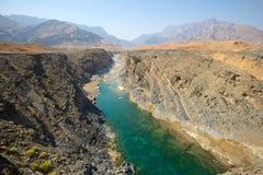 Lecho de un río seco omaní Fotografía de archivo