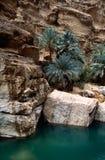 Lecho de un río seco Shab Imagenes de archivo