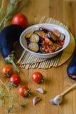 Lecho di verdure casalingo dello stufato Fotografie Stock Libere da Diritti