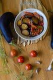 Lecho di verdure casalingo dello stufato Fotografia Stock