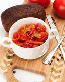 Lecho is an originally thick vegetable stew. Royalty Free Stock Photo
