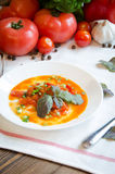 Lecho stewed vegetable salad pepper tomato royalty free stock photo
