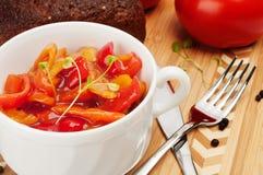 Lecho è uno stufato di verdure originalmente spesso. Fotografie Stock Libere da Diritti