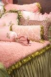 Lecho y linos exclusivos de lujo Fotografía de archivo