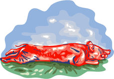 Lechon Roast Pig WPA Royalty Free Stock Image