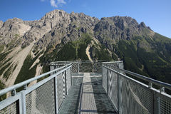 Lechtal Alps. Observation Plattform at the Lechtal Alps near Imst. North Tirol. Austria Royalty Free Stock Photos