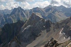 Lechtaler Alpen,奥地利 免版税库存照片