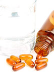 Lecithin pills Royalty Free Stock Photos