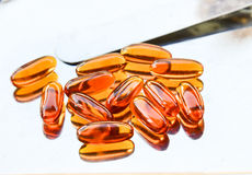Lecithin supplement capsules Stock Photography