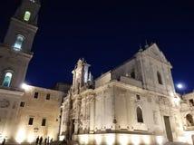 Lecka - piazza Del Duomo di sera Zdjęcia Royalty Free