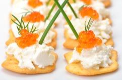 Leckerbissen mit Kaviar Lizenzfreies Stockfoto