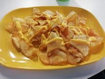 leckere Kartoffel des Nahrungsmittelchip-Käses stockbilder