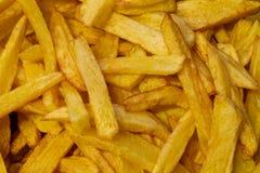 Leckere Pommes-Frites als Hintergrund stockfoto
