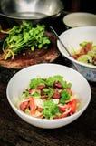 Leckeres Misch vom Gemüse und von der Wurst Lizenzfreie Stockbilder