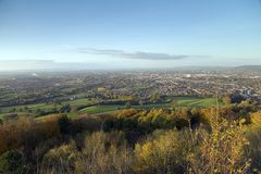 Leckhampton小山,切尔滕纳姆,格洛斯特郡,英国 免版税库存图片