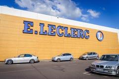 Leclerc大型超级市场 库存图片