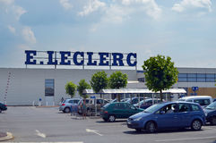 Leclerc hypermarket Royalty Free Stock Images