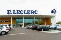 Leclerc hypermarket Royalty Free Stock Photo