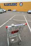 Leclerc shopping cart Stock Image