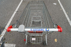 Leclerc shopping cart Royalty Free Stock Photo