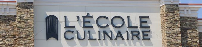 Lecole Culinaire School Sign Stock Photography
