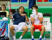 Leconte (l.) and Cagnina at Zurich Open 2012 Stock Images