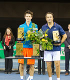 Leconte (r.) and Cagnina at Zurich Open 2012 Stock Photography