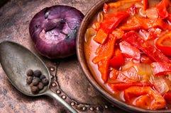 Lecso classic dish of Hungarian cuisine Stock Photo