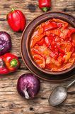 Lecso classic dish of Hungarian cuisine Royalty Free Stock Photo