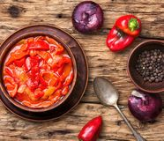 Lecso classic dish of Hungarian cuisine Royalty Free Stock Images