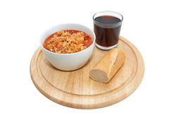 Lecso, Hungarian paprika soup, isolated Royalty Free Stock Images