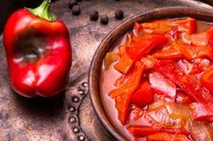 Lecso classic dish of Hungarian cuisine Royalty Free Stock Image