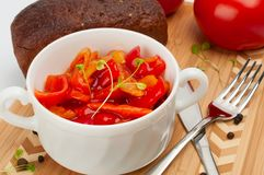 Lecso which is an Hungarian thick vegetable stew royalty free stock photos