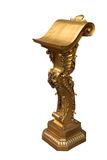 Lectern. A decorated gilded pulpit, lectern royalty free stock photography