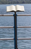 Lectern on the lake shore. A lectern on the lake shore stock photos