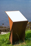 Lectern oxidized. Lectern made in oxidized metal. vertical composition stock photography