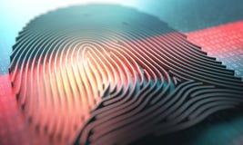 Lecteur biométrique d'empreinte digitale Image libre de droits