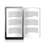 Lecteur d'Ebook. conception d'illustration de comprimé illustration libre de droits