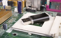 Lecteur d'instantané d'USB Photos libres de droits