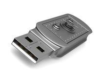 Lecteur d'instantané d'USB sur le fond blanc 3d illustration de vecteur