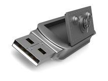 Lecteur d'instantané d'USB sur le fond blanc 3D d'isolement illustration stock